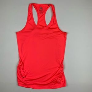 Adidas Bright Coral Workout Tank w/ Vent + Zippers